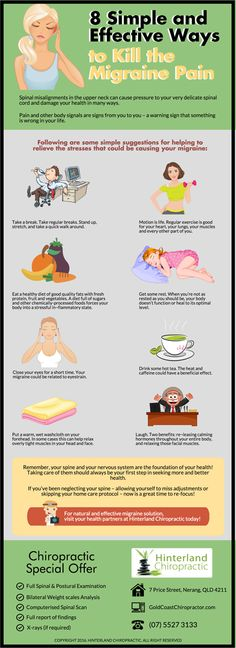 8 Simple and Effective Ways to Kill the Migraine Pain goldcoastchiropractor.com
