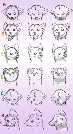 Ideas How To Draw A Wolf Face Design Reference how to draw a wolf - Drawing Tips Art Reference Poses, Design Reference, Drawing Reference, Drawing Techniques, Drawing Tips, Drawing Sketches, Sketch Art, Female Face Drawing, Furry Drawing