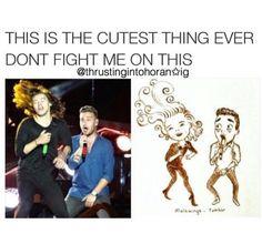 "Liam's like , "" I can't! He's to gorgeous!"">> Same Liam same"