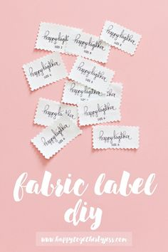 Tutorial: Make your own fabric labels