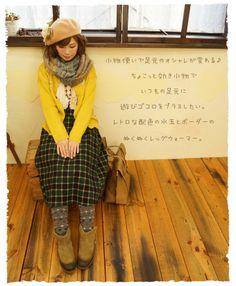 Japanese Fashion/mori girl/cute/retoro
