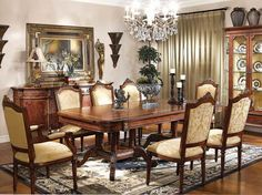 traditional dining room with classic furniture