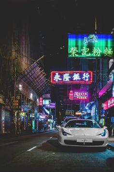 Ferrari in Japan Street Aesthetic Japan, City Aesthetic, Supercars, Tokyo Drift Cars, Jdm Wallpaper, Wallpaper Pictures, Street Racing Cars, Mc Laren, Japan Cars