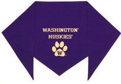 """University of Washington Huskies Bandana (L) Ties on 14"""" - 22"""" neck >>> To view further for this article, visit the image link."""