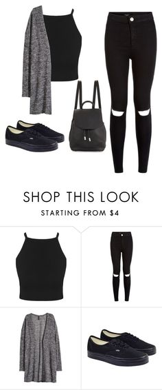 """#allblack"" by sixteengirl ❤ liked on Polyvore featuring New Look, H&M, Vans and rag & bone"