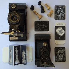 Day 5: Black and White In between blacks and whites you can get grey shadows of doubt and conundrums can develop. @interiorsaddict #7vignettes . . . . . #vintagetake #cameras #brownies #blackandwhite #photography #stilllife #memorial #paintchip #paintchipdiaries #drawing #soldiers #sketch #shsdows #folding #stencil #poppy #remembrance #nothingisordinary #history #flatlay #chess #extinction #endangered #ThingsArrangedNeatly