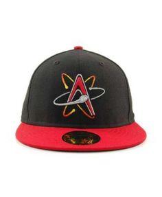 526757b333147 New Era Albuquerque Isotopes MiLB 59FIFTY Cap - Black Red 7 1 2
