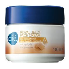 Avon Care Royal Jelly Face Cream - For very dry skin, with softening and restoring royal jelly. Immediately provides skin with twice the hydration and continues to provide 24 hour moisturisation. With royal jelly extract and vitamin E. 100ml