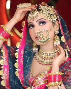 Bridal Makup, Indian Bridal Makeup, Middle Eastern Makeup, Indian Bridal Photos, Bride Portrait, Indian Jewellery Design, Jewelry Design Earrings, Bridal Looks, Beautiful Eyes