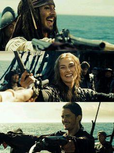 Jack Sparrow Elizabeth Swan & Will Turner