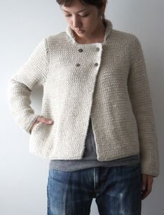 Simple knitted jacket.   Love this.
