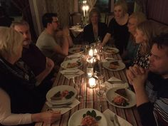 RT House jumping dinner in Voullerim - concept to get a new guest to the family Arctic Circle, Table Settings, Concept, Candles, Dinner, House, Dining, Table Top Decorations, Food Dinners