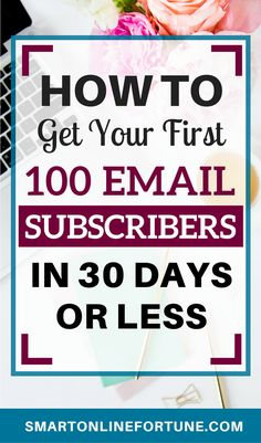 Are you struggling to get your first 100 email subscribers? Here are nine techniques that helped me get my first 100 email subscribers in 30 days or less. An email list is a blogger or an online entrepreneurs most valuable asset. When email marketing is done right, it's return on investment exceeds that of any other marketing strategy. Start building your email list today with these nine techniques guaranteed to skyrocket your email list. #emailmarketing #emaillist #listbuilding