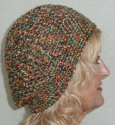 Multicolor Crochet Hat Women Handcrafted Unique by hatsbyanne1942