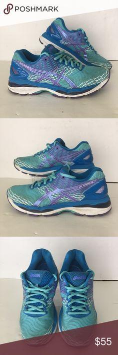 fe4661c79ad3 Asics Gel Nimbus 18 Turquoise Size 8.5 • Asics • Women s • Gel Nimbus 18 •  Turquoise Iris Methyl Blue • Size US Size 8.5 • Model T650N • EUC  Awesome  ...