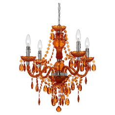 Add a pop of color to your foyer or master suite with this handmade mini chandelier, showcasing prism-cut accents and scalloped bobeches.  ...