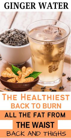 Lose Fat, How To Lose Weight Fast, Healthy Drinks, Healthy Recipes, Fat Burning Tea, Ginger Water, Infused Water, Japanese Food, Burns