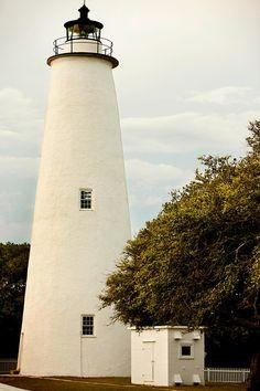 Ocracoke Lighthouse,Ocracoke Village, North Carolina,US .