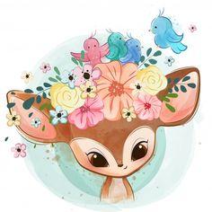 New baby bird clipart nests Ideas Illustration Mignonne, Illustration Girl, Cute Animal Drawings, Cute Drawings, Scrapbooking Image, Art Mignon, Cute Cartoon, Cute Wallpapers, Cute Art