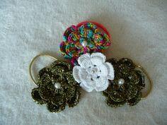 Haargummis aus Baumwolle mit Perle