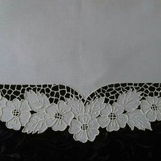 Border Embroidery Designs, Cutwork Embroidery, Embroidery Needles, Embroidery Patterns, Hairpin Lace, Cut Work, Doilies, Baby Dress, Hair Pins