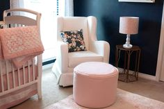 Project Nursery - Feminine Navy and Pink Nursery