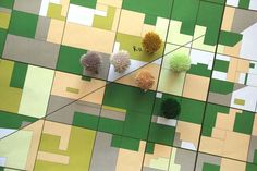 Rugs inspired by aerial views of landscapes. Could design ideas be applied with rug hooking?