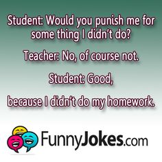 Student and Teacher Joke