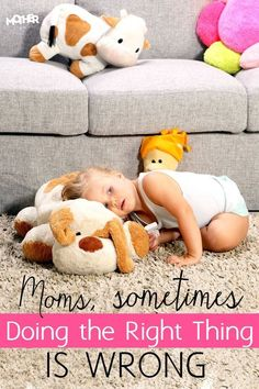 """Do you find you are getting discouraged trying to do what all the parenting """"experts"""" suggest? Great read for moms of babies, toddlers, and preschoolers."""