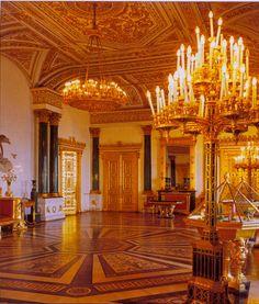 Malachite Room of the Winter Palace. Beautiful Architecture, Beautiful Buildings, Beautiful Homes, Beautiful Places, Romanov Palace, Antonio Gaudi, Palaces, Winter Palace, Hermitage Museum