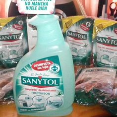 #Sanytol Multiusos. Spray Bottle, Cleaning Supplies, Soap, Dishes, Smell Good, Cleaning Agent, Tablewares, Bar Soap, Soaps