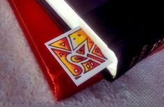 Fire Party Stained Glass Style Bookmark by jezunya on Etsy