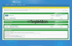 MyBB Templates - Clean Green Blue Template Design #mybb #green #blue #design