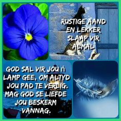 Good Night, Good Morning, Goeie Nag, Angel Prayers, Afrikaans Quotes, Prayer Quotes, Qoutes, Friendship, Blessed