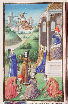 Rape of Proserpina. Augustine, La Cité de Dieu, The Hague, MMW 10 A 11, circa 1475