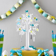 Guest book idea: Wishing Tree. have guests write Benjamin birthday wishes to hang on the tree!