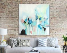 Prints for sale from $29  Blue Abstract Art Print  #abstractpainting #artzaro