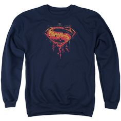 Batman V Superman Super Tech Shield Logo Mens Crewneck Sweatshirt