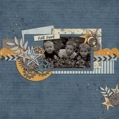 scrapbook page idea using kits from Lindsay Jane