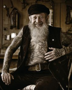 Tattoo artist Herbert Hoffman  (1919 –  2010)  was the oldest active tattoo artist in the world.