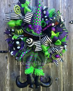Wicked Witch Wreath by Holiday Baubles