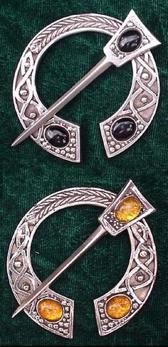 Penannular brooch - perfect for those of us who crochet our own shawls
