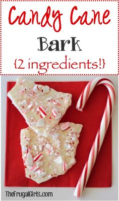 Candy Cane Bark Recipe from TheFrugalGirls.com