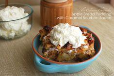 Apple Bread Pudding with Caramel Bourbon Sauce