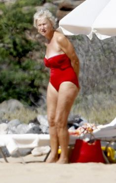 Hellen mirren in red bikini