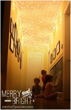 Lit Up Hallway - 20 Magical DIY Christmas Home Decorations You'll Want Right Now