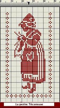 Hollandse breister. Mujer tejiendo