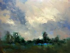 Cool Day at the Marshes by Trisha Adams Oil ~ 24 x 30