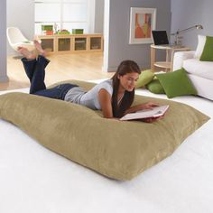 giant beanbag pillow that shapes into any kind of seat you want...awesome!