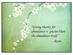 #rumi: giving thanks